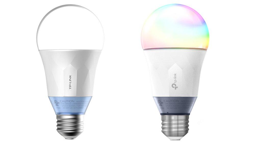 TP-Links smarta Wi-Fi ljuskällor LB130 (färg) och LB120 (vit)